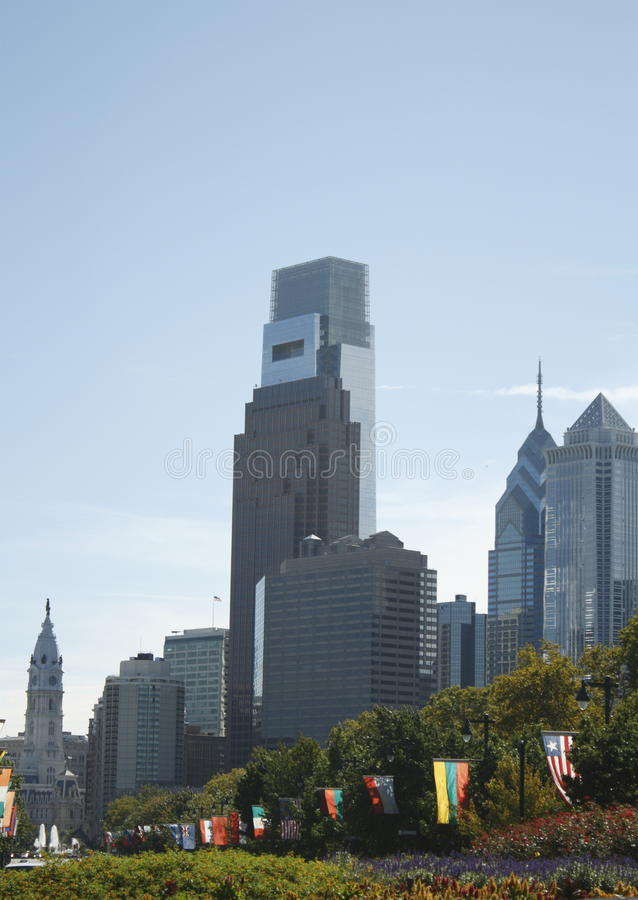 Download Philadelphia PA skyline stock image. Image of comcast - 11388599