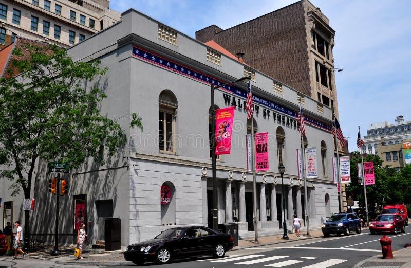Philadelphia, PA: Teatro histórico de la calle de la nuez fotografía de archivo libre de regalías