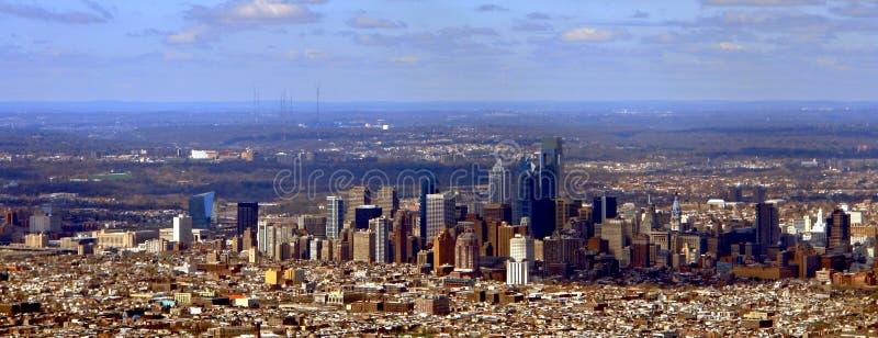 Philadelphia Pennsylvania Cityscape Aerial View stock photo