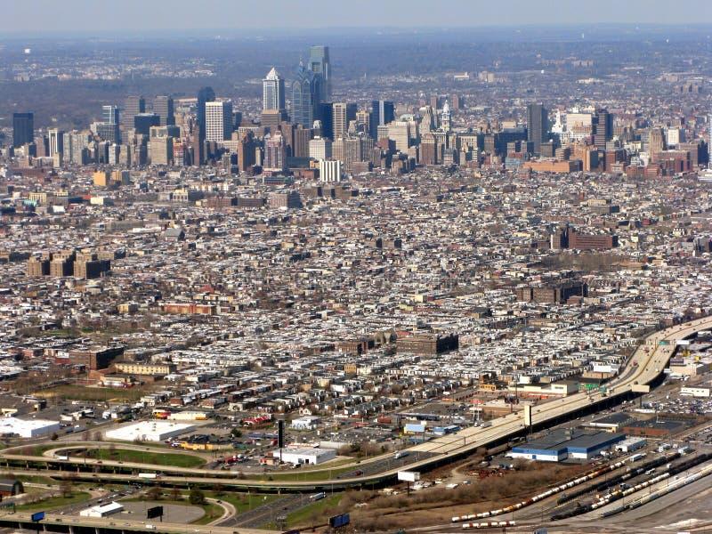Philadelphia Pennsylvania Cityscape Aerial View stock image