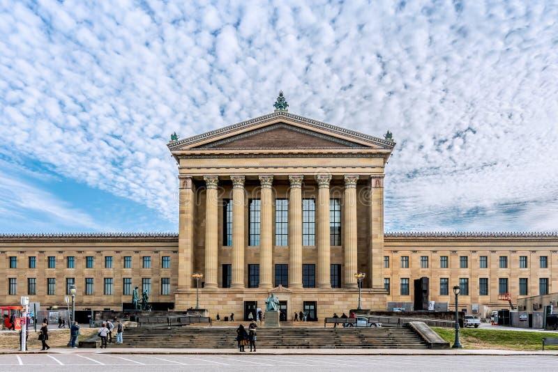 Philadelphia, Pennsylvania, de V.S. - December, 2018 - het Museum van Philadelphia van Art. stock foto
