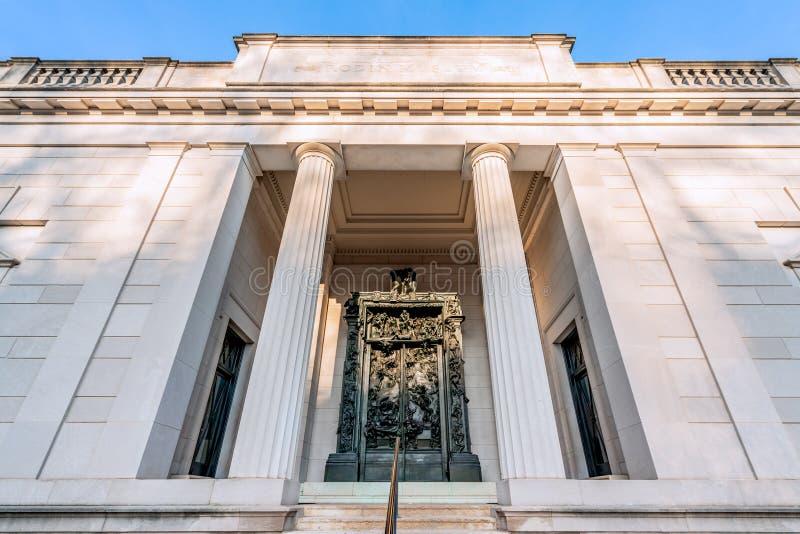 Philadelphia, Pennsylvania, de V.S. - December, 2018 - de Poorten van Hel in Rodin Museum in Philadelphia royalty-vrije stock foto's