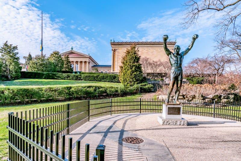 Philadelphia, Pennsylvania, de V.S. - December, 2018 - Rocky Statue in Philadelphia stock foto