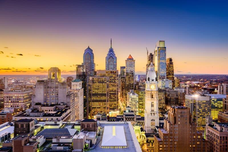 Philadelphia Pennsylvania horisont royaltyfria foton