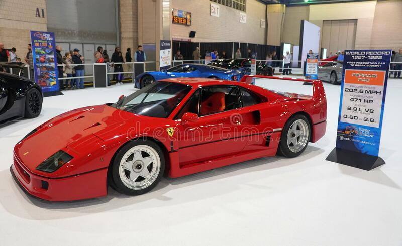 Philadelphia Pennsylvania U S A February 9 2020 The Front View Of The Bright Red Color Of Ferrari F40 Supercar Editorial Stock Photo Image Of Exclusive Design 172663243