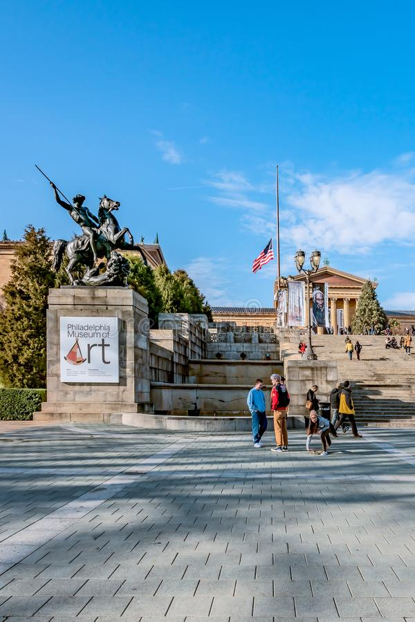 Philadelphia, Pennsylvania, USA - December, 2018 - Philadelphia Art Museum Entrance stock photo