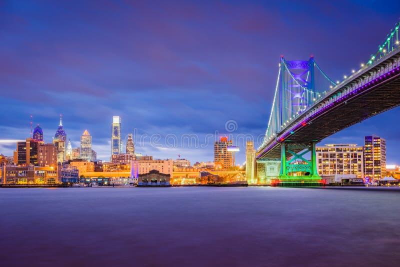 Philadelphia Pennsylvania, USA horisont royaltyfria bilder