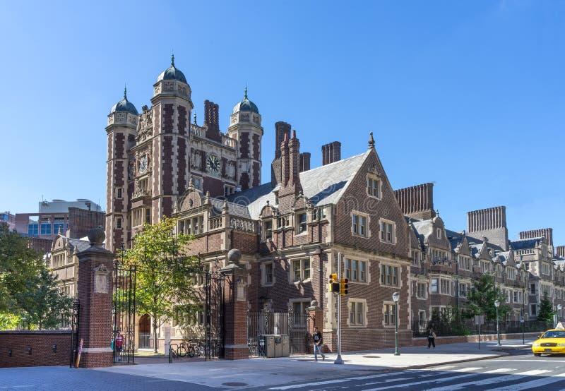 Penn Quadrangle. Philadelphia, Pennsylvania USA - Oct 1 , 2017 - University of Pennsylvania, Quadrangle dormitory from Spruce Street stock photos
