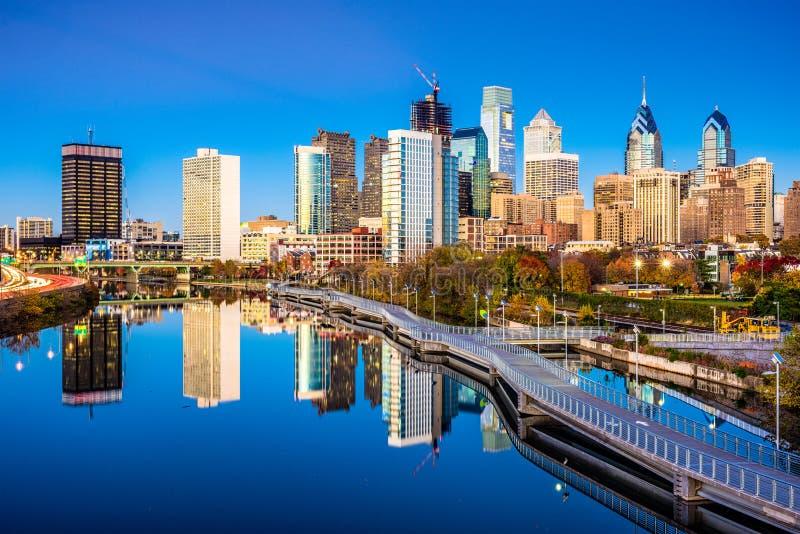 Philadelphia, Pennsylvania, USA. Skyline on the river royalty free stock image