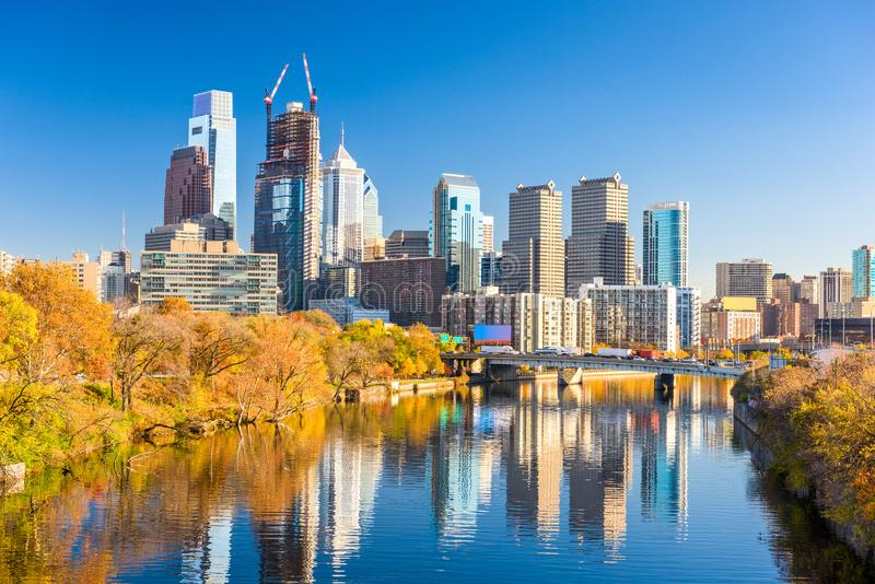 Philadelphia, Pennsylvania, USA River Skyline stock photos