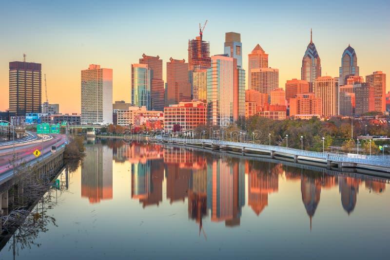 Philadelphia, Pennsylvania, USA River Skyline royalty free stock image