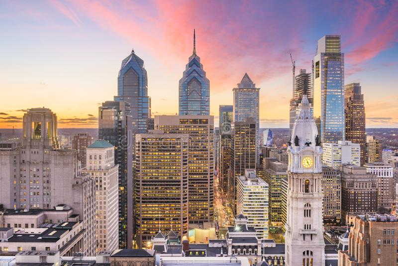 Philadelphia, Pennsylvania, USA skyline at Center City royalty free stock images