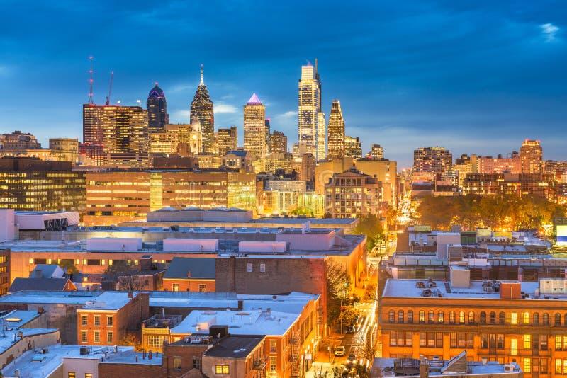 Philadelphia Pennsylvania, USA takCityscape arkivbilder