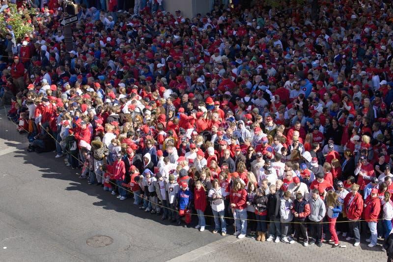 Philadelphia Phillies fans stock image