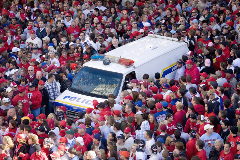 Philadelphia Phillies fans royalty free stock images