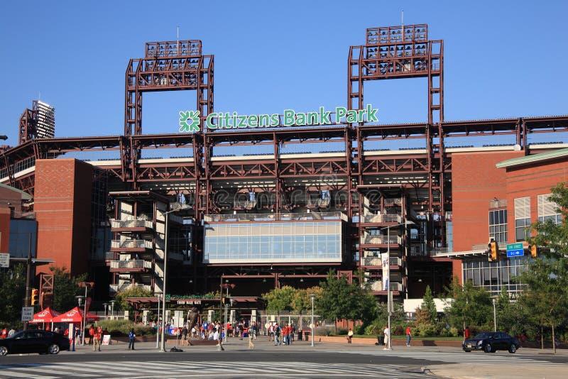 Philadelphia Phillies - het Park van de Bank van Burgers stock foto