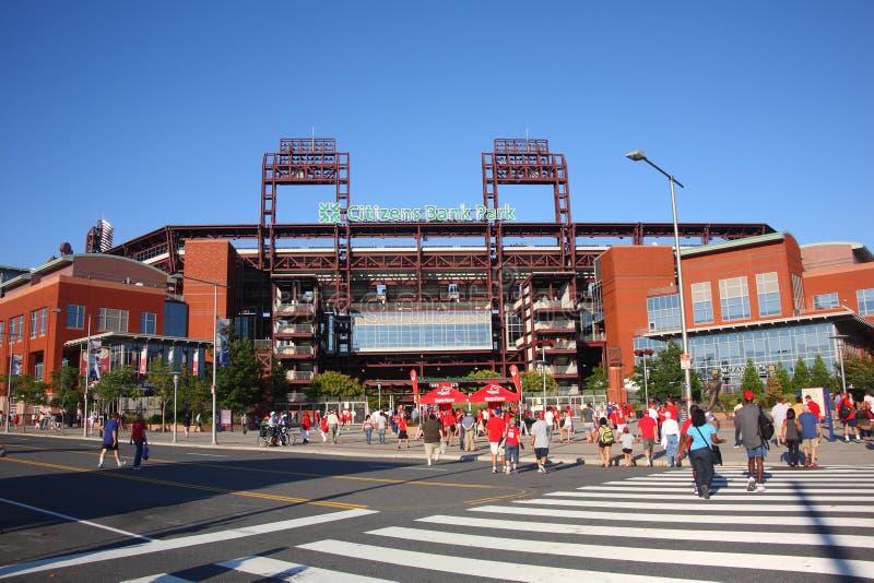 Philadelphia Phillies - het Park van de Bank van Burgers stock afbeelding