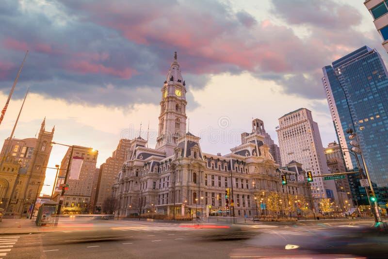 Philadelphia`s City Hall building stock photography