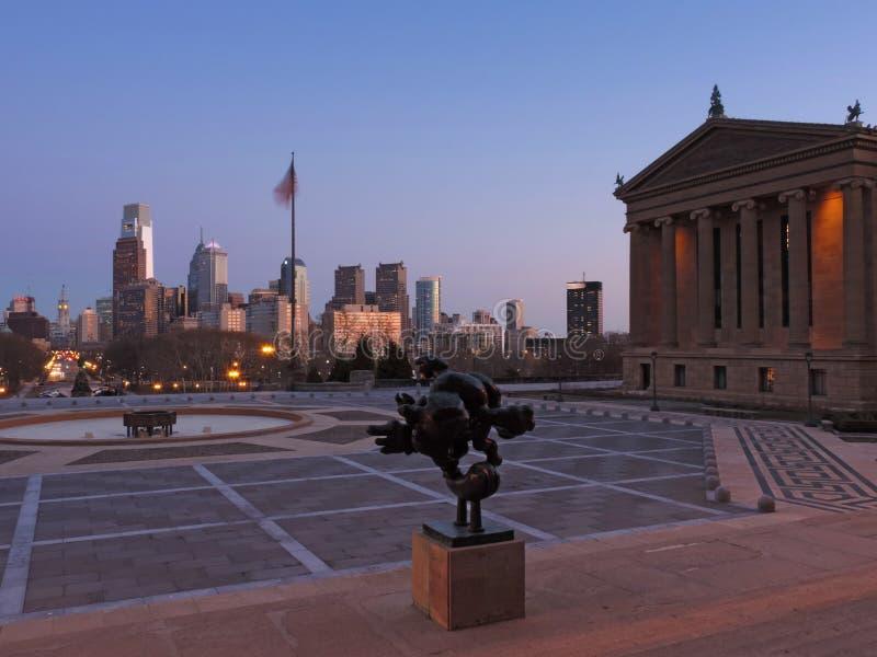 Philadelphia Skyline at Dusk royalty free stock image