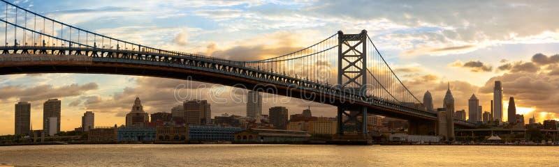 Philadelphia skyline panorama royalty free stock photos