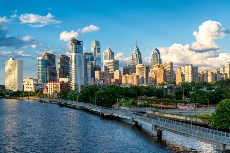 Philadelphia skyline stock image