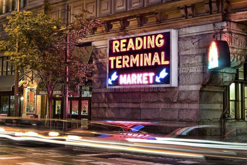 Philadelphia som läser den slutliga marknaden royaltyfri foto