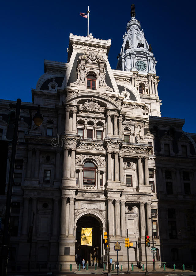 Download Philadelphia stadshus redaktionell arkivfoto. Bild av stads - 27278023
