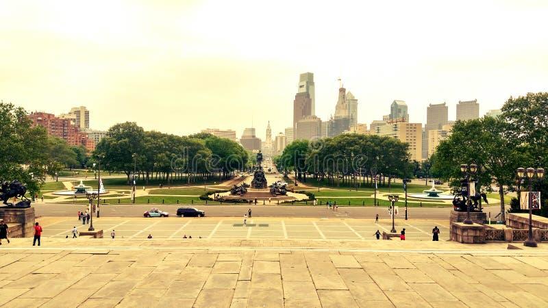 Philadelphia-Stadt kann sonnig stockfoto