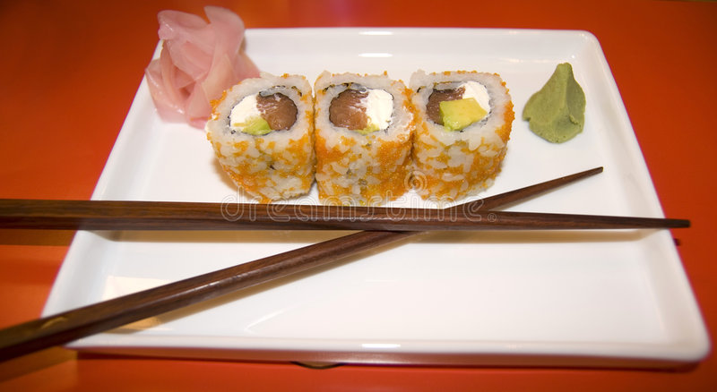 Philadelphia-Sushi stockbild