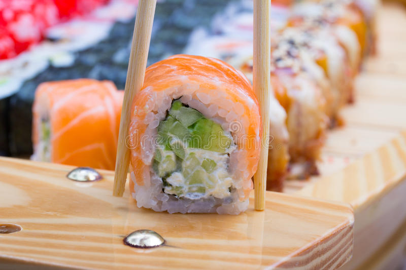 Download Philadelphia Sushi Roll Royalty Free Stock Photos - Image: 34622228