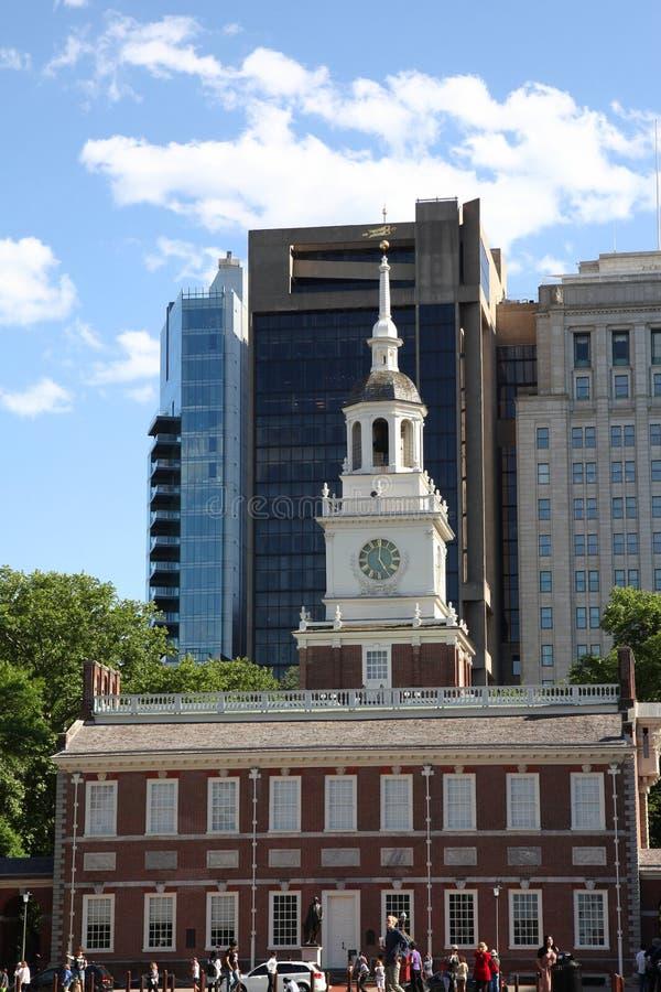 Philadelphia USA - JUNI 14, 2018: Självständighet Hall på kastanjen royaltyfri fotografi