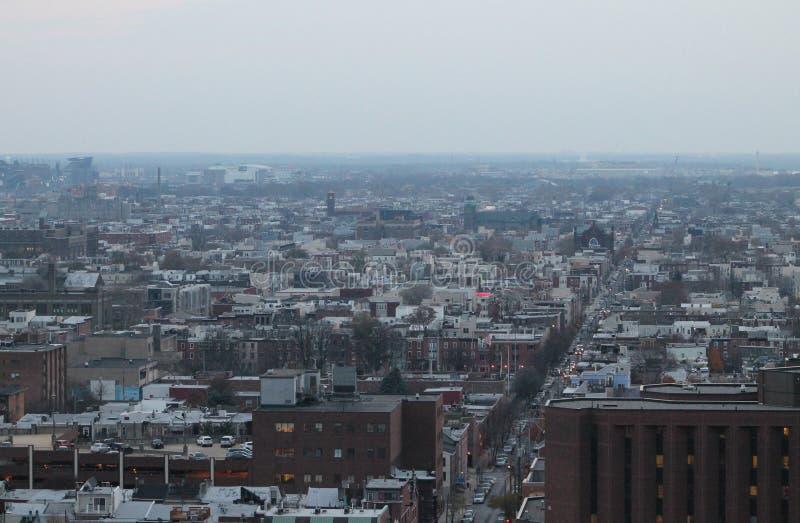 Philadelphia von oben lizenzfreie stockbilder