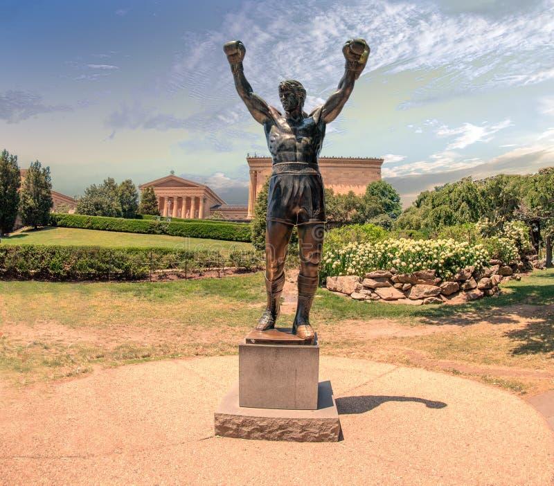 PHILADELPHIE, Etats-Unis - JUNE19, 2016 - statue de Silvester Stallone Rocky images stock