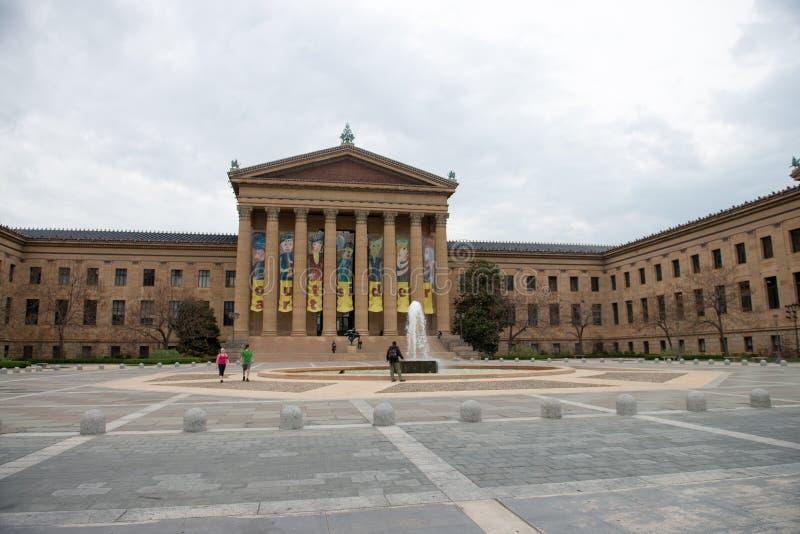 PHILADELPHIE, PA - 19 AVRIL : Front Entrance du Musée d'Art de Philadelphie le 19 avril 2013 photos stock