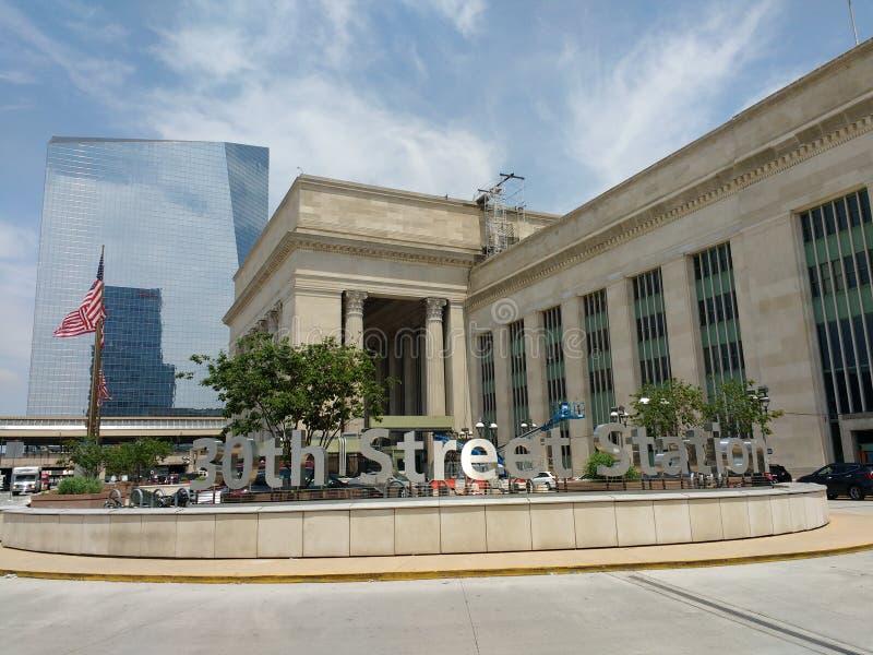 Philadelphie, Pennsylvanie, 30ème station de rue, Etats-Unis photo libre de droits