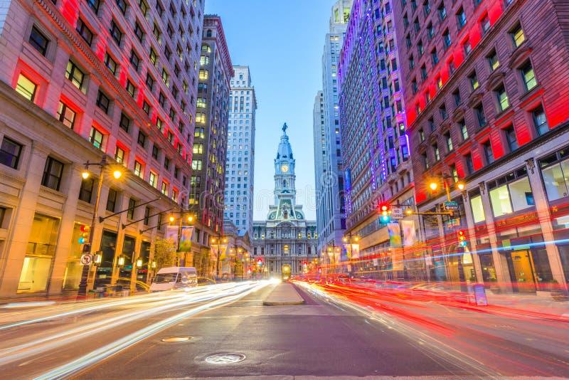 Philadelphie, Pennsylvanie, Etats-Unis à l'Hôtel de Ville photos libres de droits