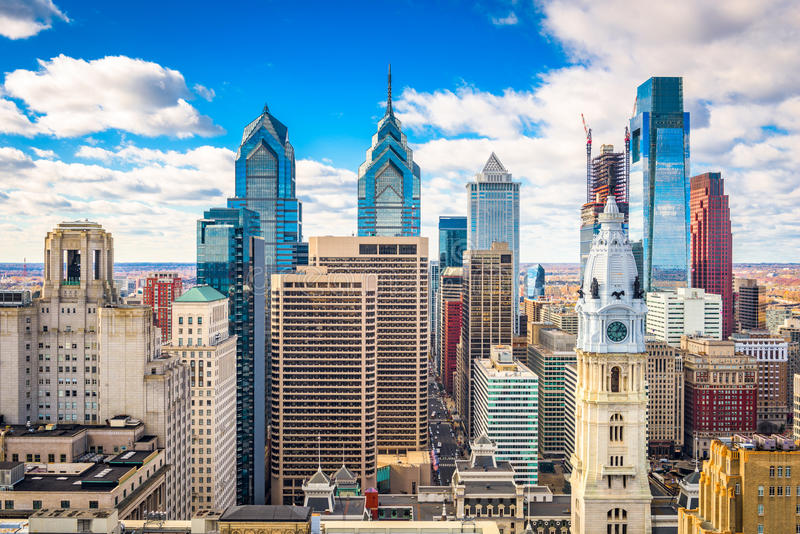 Philadelphie, Pennyslvania, horizon des Etats-Unis photo stock