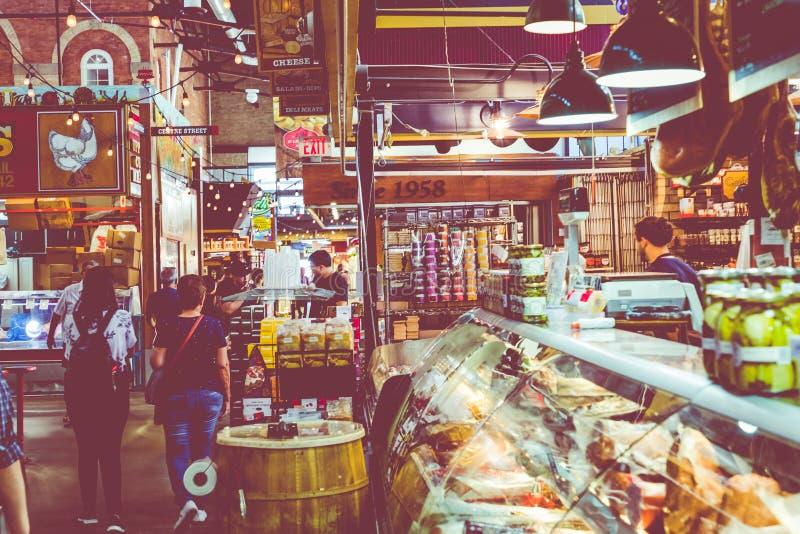 PHILADEPHIA, США - 19-ОЕ СЕНТЯБРЯ 2018: Терминальный рынок в Philad стоковые фотографии rf