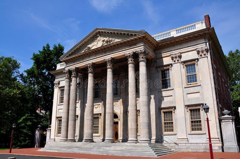Philadephia, PA : La première banque des Etats-Unis Statyes photo libre de droits