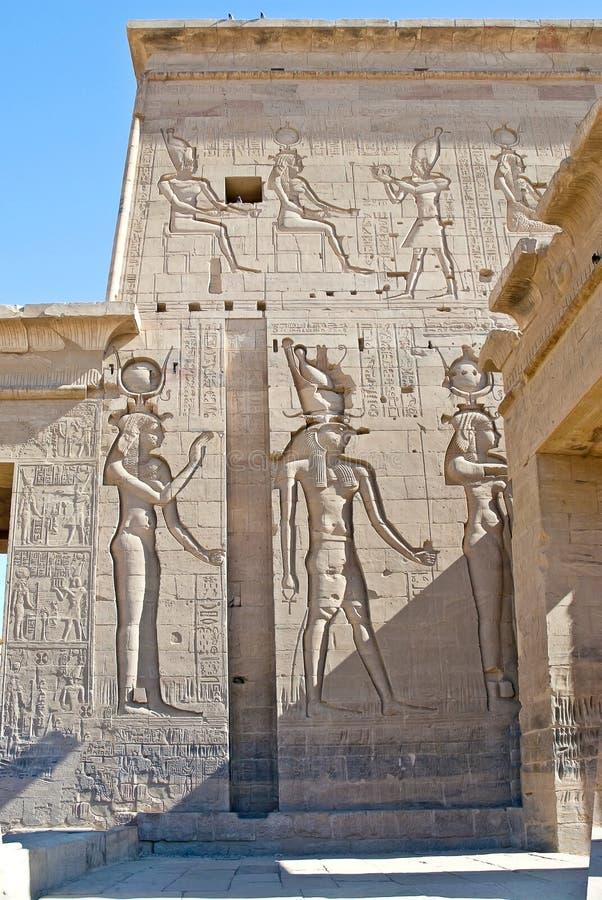 Philae寺庙在埃及 免版税库存照片