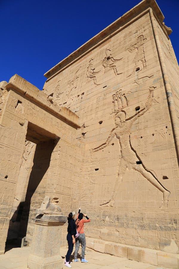 Philae świątynia zdjęcie royalty free