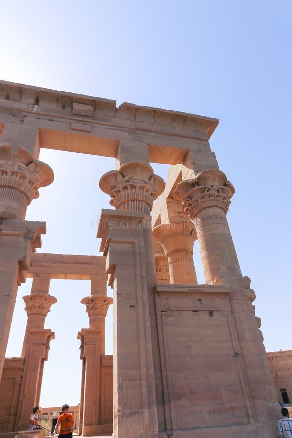 Philae świątynia Isis - Aswan, Egipt zdjęcie stock
