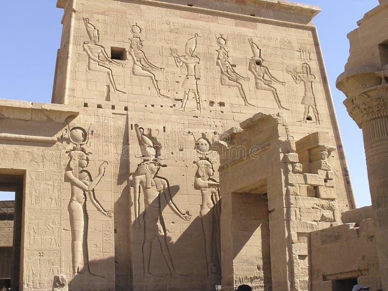 Philae Tempel - Ägypten lizenzfreie stockfotografie