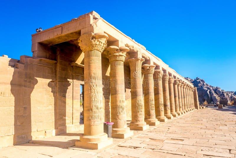 Philae tempel i aswan på Nilen i Egypten arkivbild