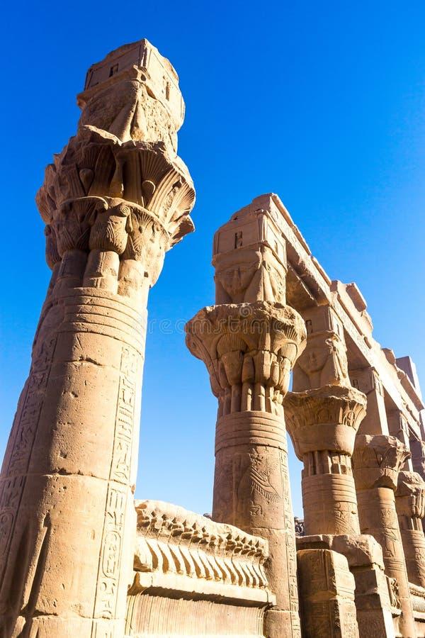 Philae tempel i aswan på Nilen i Egypten royaltyfri foto