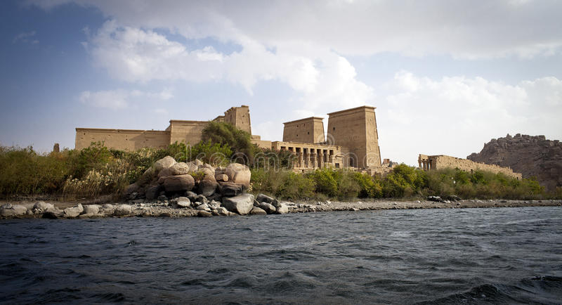 PHILAE TEMPLE. On the Nile River in Egypt royalty free stock image