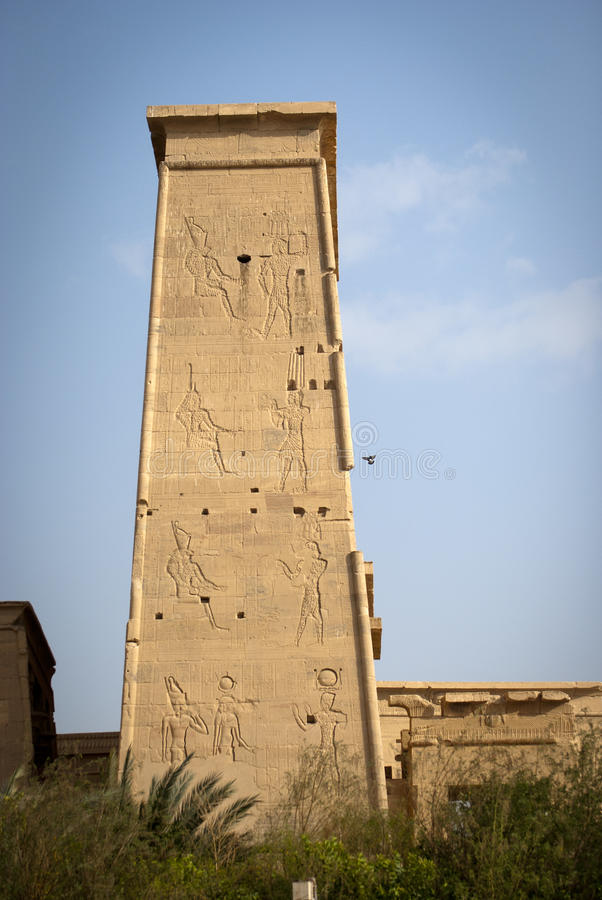 PHILAE TEMPLE. On the Nile River in Egypt stock photos