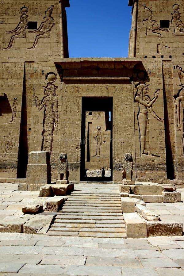 Philae temple stock photo
