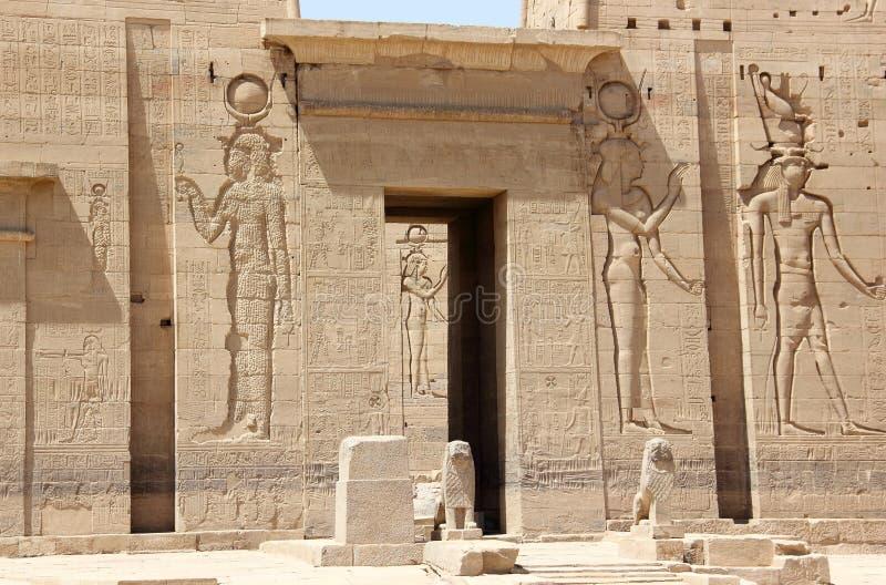 The Philae Temple, on Agilkia Island. Egypt. stock photos