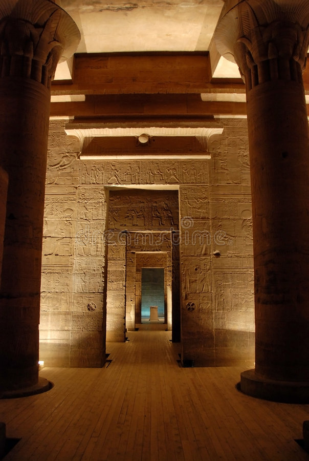 The Philae temple, Egypt stock photos